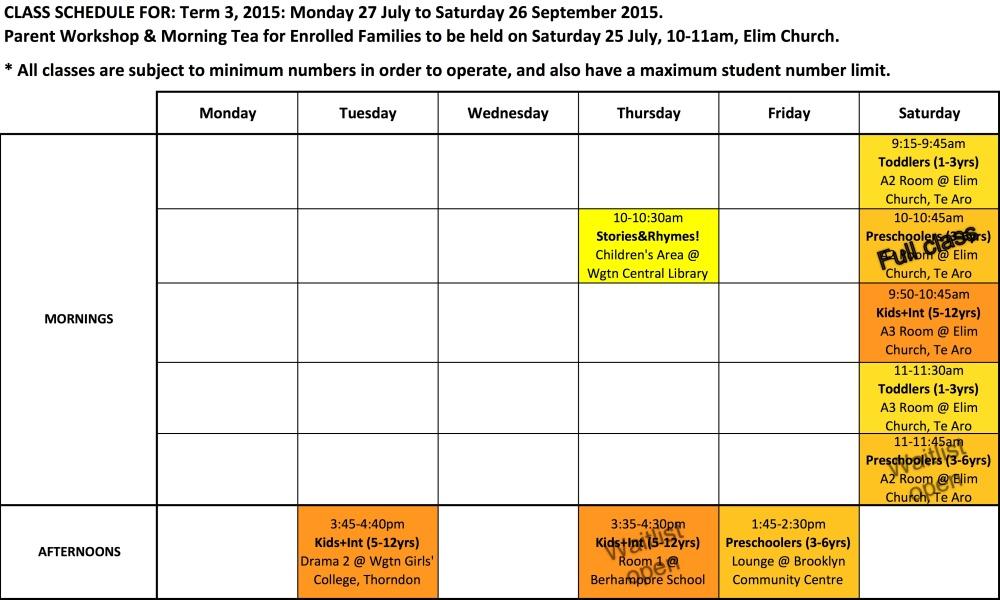 Schedule 2015 T3 v150726
